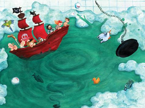 Piratenschiff, Badewanne