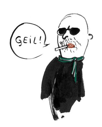 werber, geil, Zigarette, schal, Sonnenbrille, Glatze