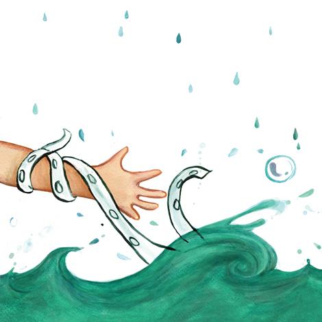 Kampf, Wasser, Seeungeheuer