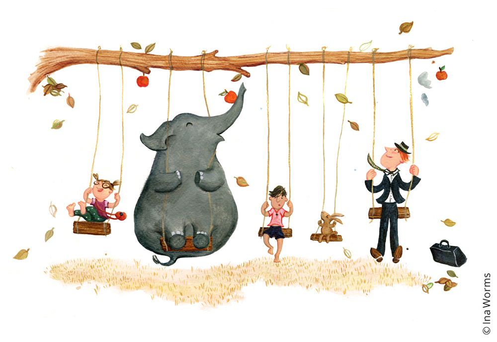 Schaukeln Elefant