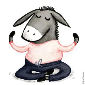 Yoga Esel, Gymnastik, Donkey, Omm